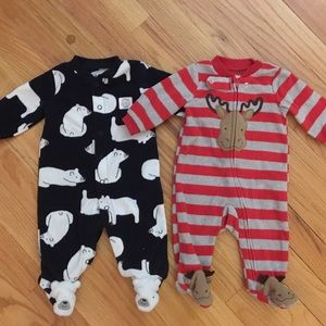 Baby fleece footed pajamas